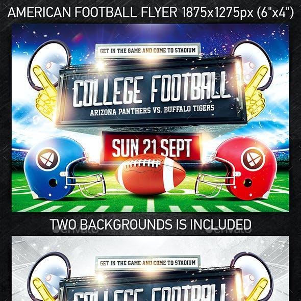 American Football Game Flyer vol.3