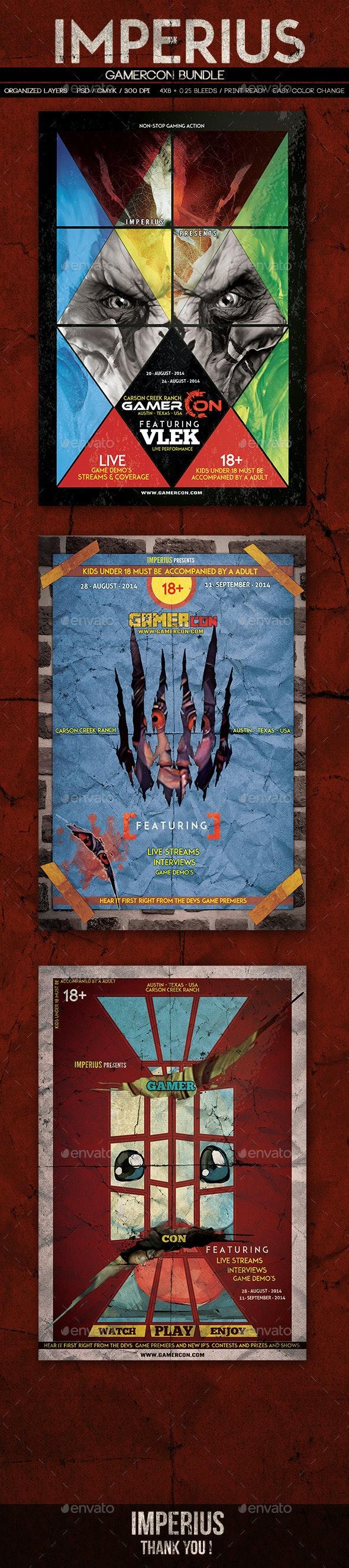 GamerCon Bundle - Flyers Print Templates