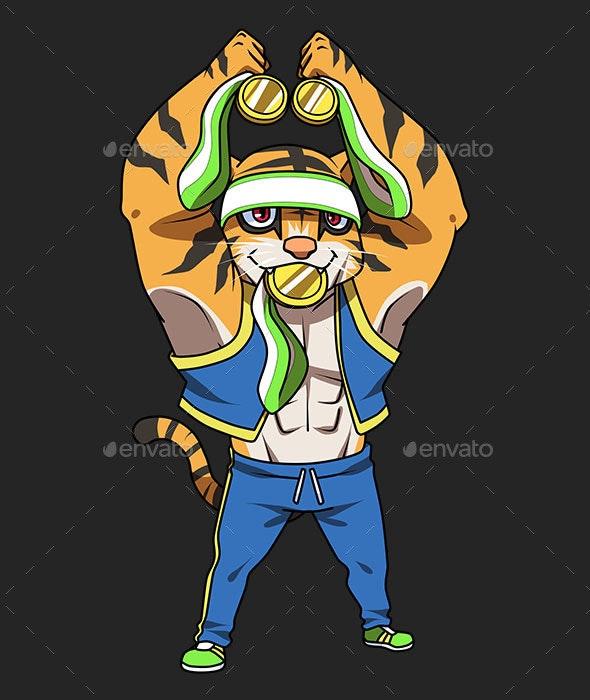 Sport Tiger Mascot - Characters Illustrations