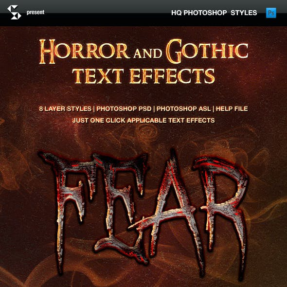 Horror and Gothic Text Effects - Fear of Darkness