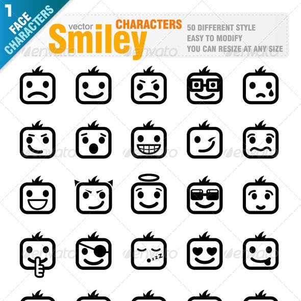 50 Different Smiley