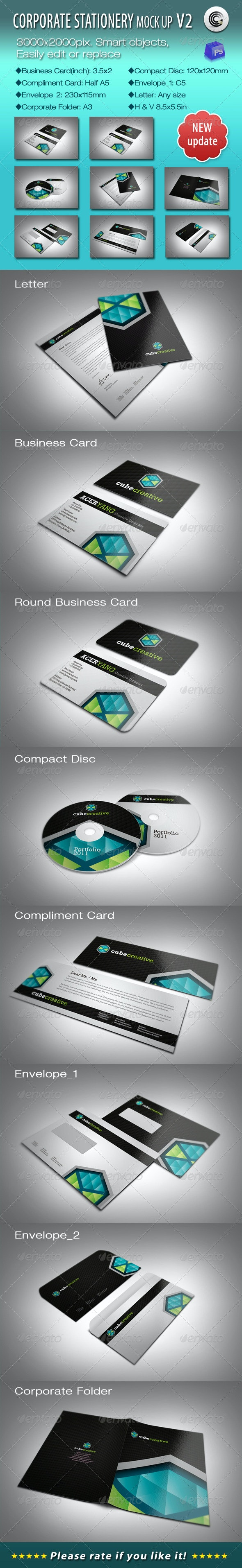 Corporate Stationery Mock-ups V2 - Stationery Print