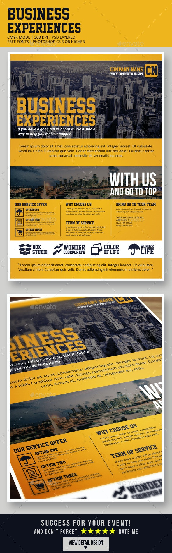 Business Experiences - Corporate Flyers