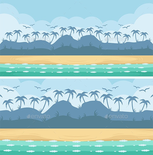 Beach Game Background - Backgrounds Game Assets