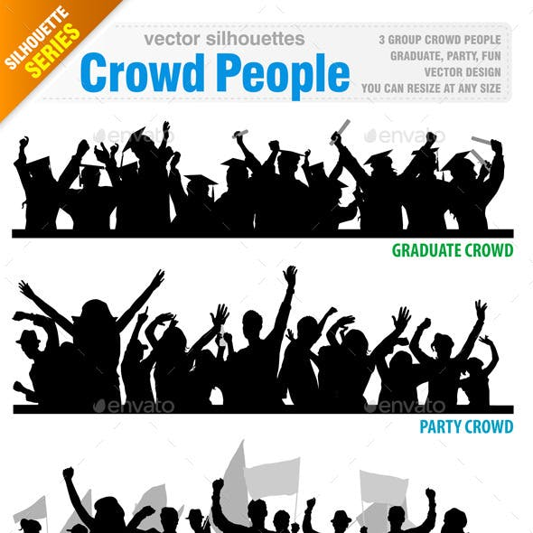 Crowd People Vector