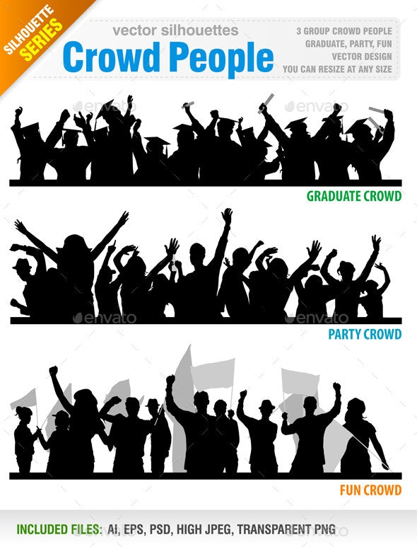 Crowd People Vector - People Characters