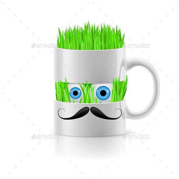 Mug with Grass Inside