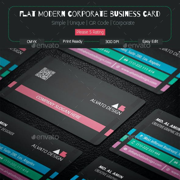 Flat Modern Corporate Business Card