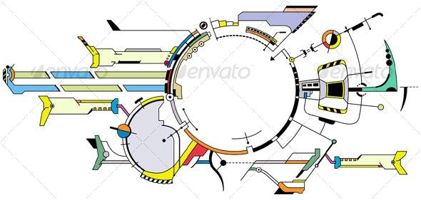 Hi-tech Riss - Technology Conceptual