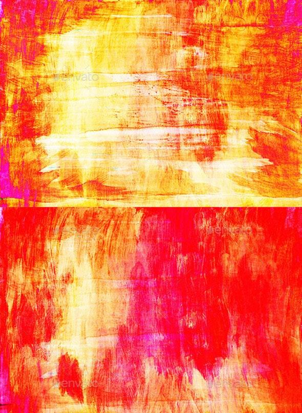 Orange Paint Textures - Art Textures