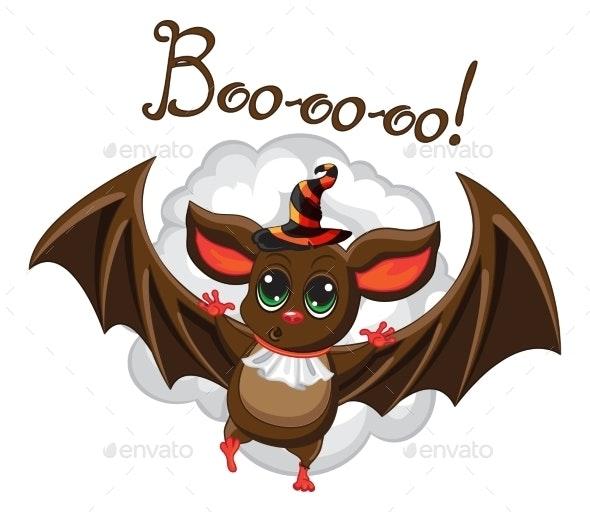 Bat in Halloween Hat - Halloween Seasons/Holidays
