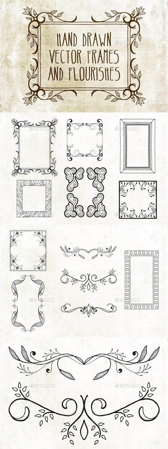 Hand Drawn Frames Pack 2 - Decorative Vectors