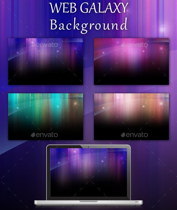 Web Galaxy Background Pack - Backgrounds Graphics