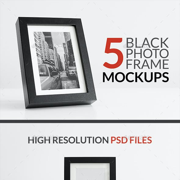 5 Black Frame Mockups