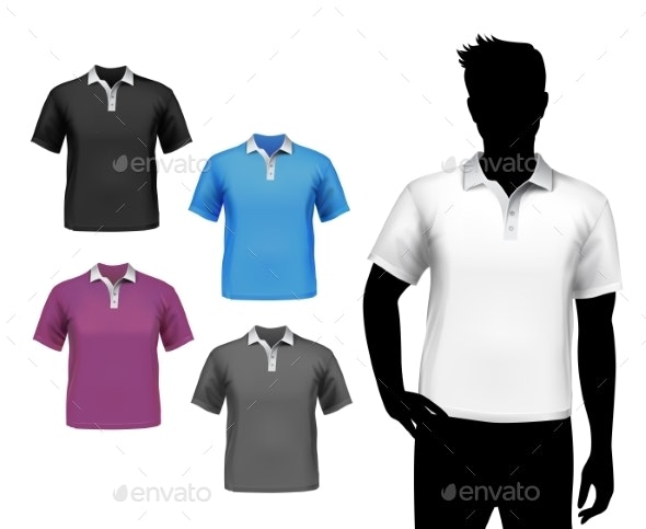 T-Shirts Male Polo Set - Retail Commercial / Shopping