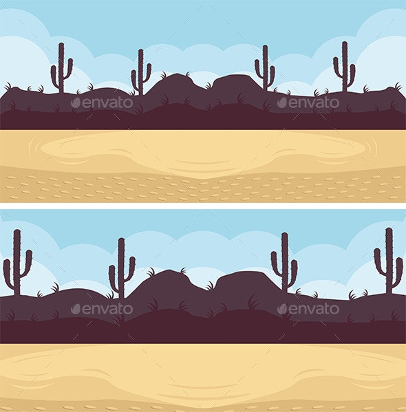 Desert Game Background - Backgrounds Game Assets