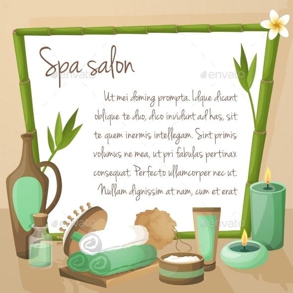 Spa Salon Background - Borders Decorative