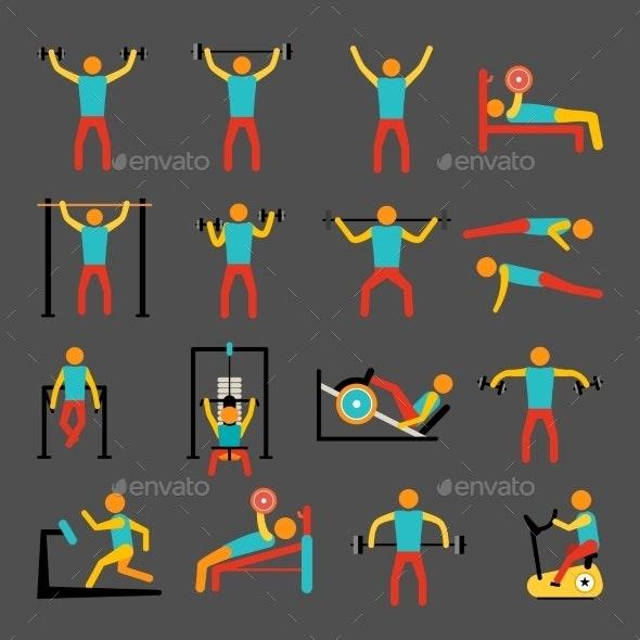 Workout Training Icons Set - Sports/Activity Conceptual