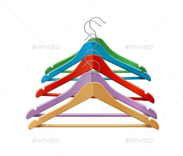 Colored Clothes Hangers  - Retail Commercial / Shopping