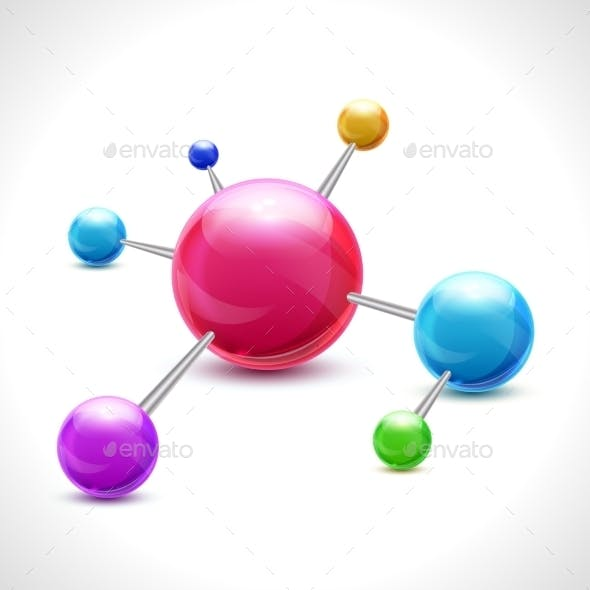 Abstract 3D Molecule
