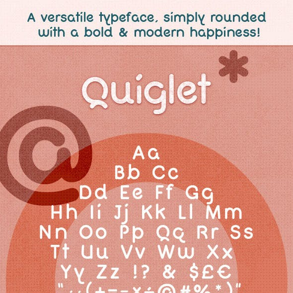 Modern Bold Rounded Font - Quiglet
