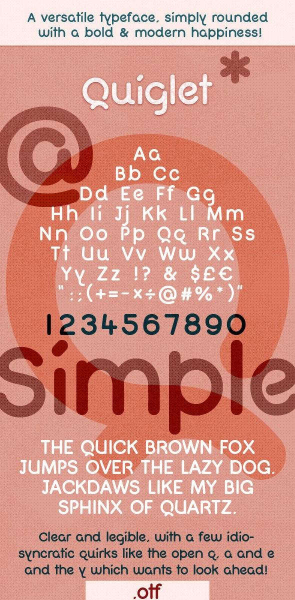 Modern Bold Rounded Font - Quiglet - Sans-Serif Fonts