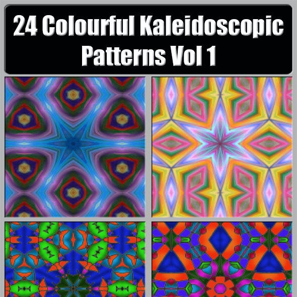 24 Colourful Kaleidoscopic Patterns Vol. 1