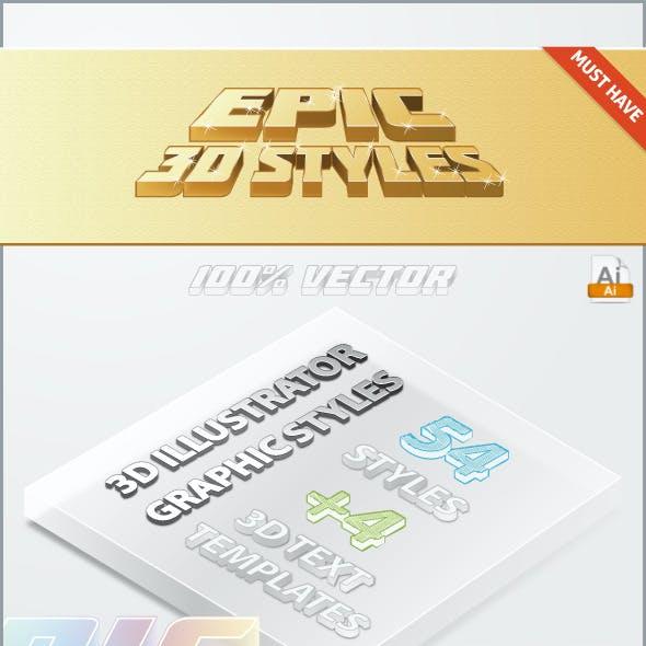 Epic 3D Styles - Illustrator