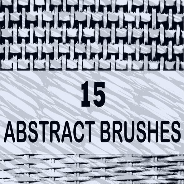 15 Abstract Wicker Brushes