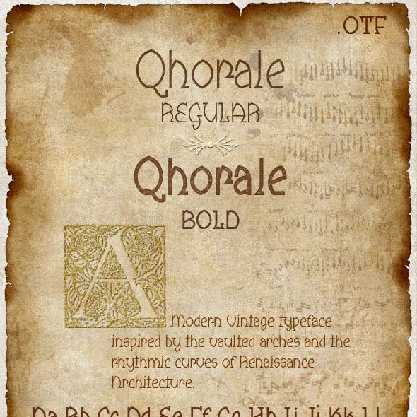 Qhorale Regular & BOLD Modern Latin