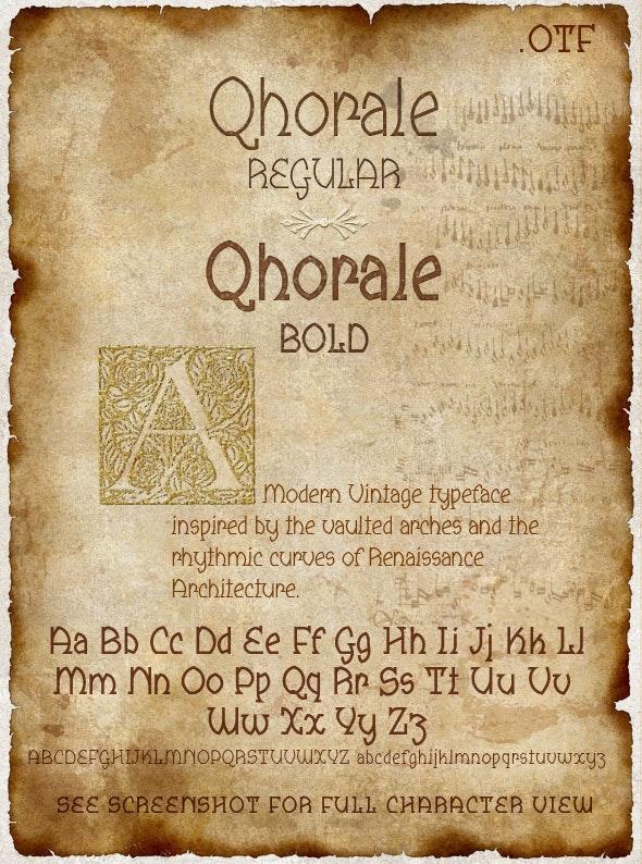 Qhorale Regular & BOLD Modern Latin