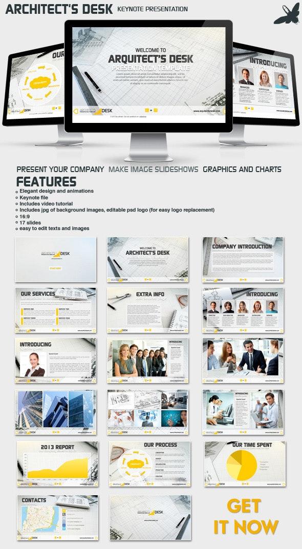 Architects Desk Presentation - Business Keynote Templates