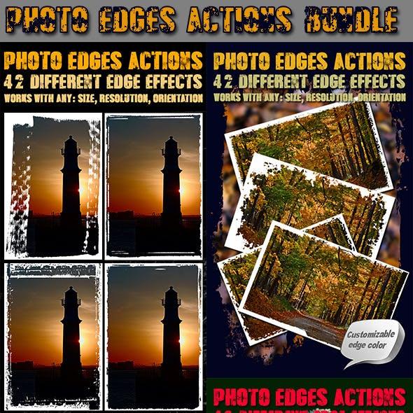 Photo Edges Actions for Photoshop Bundle