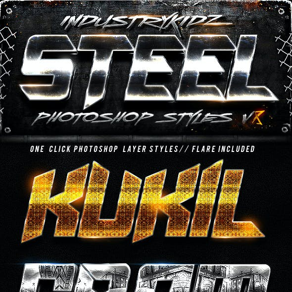 Metal Photoshop Layers Styles V8