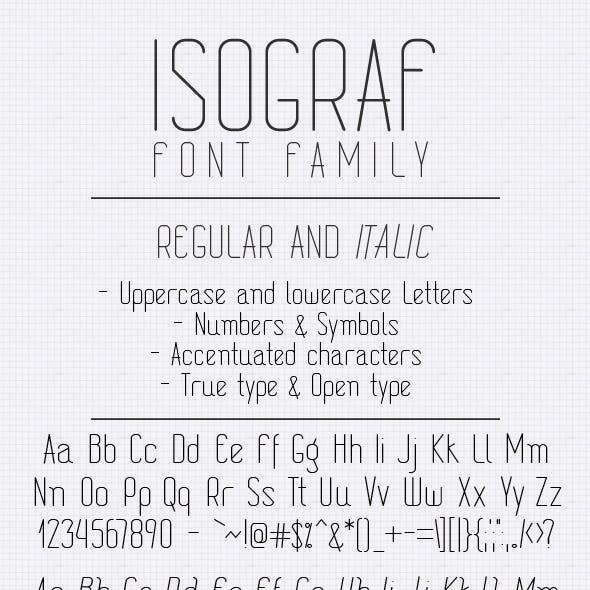 Isograf Font Family