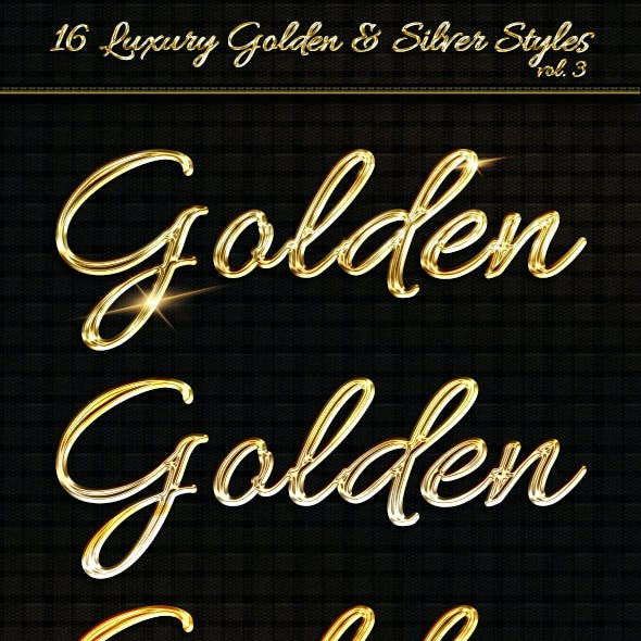 16 Luxury Golden & Silver Text Styles vol3