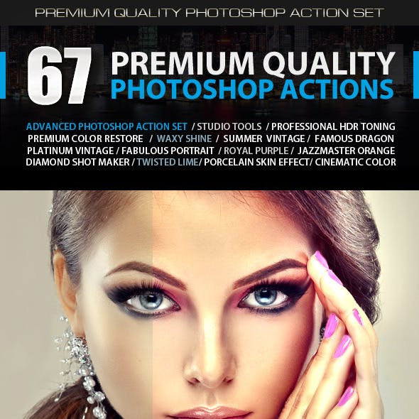 67 Premium Photoshop Actions