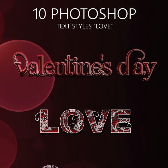 10 Love Photoshop Style