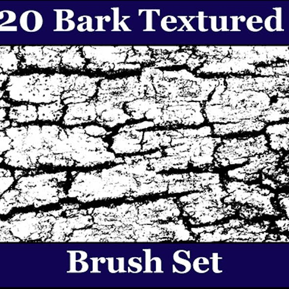 20 Bark Texture Photoshop Brush Set