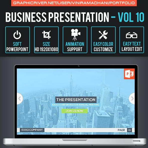 Business Presentation   Volume 10