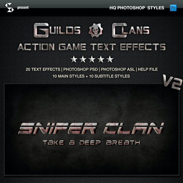 Action Game Styles - Guilds and Clans V2