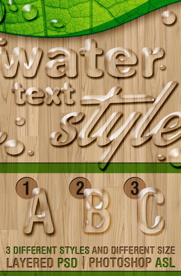 Water Text Styles - Text Effects Styles