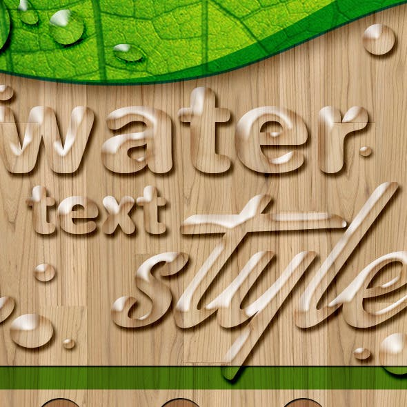 Water Text Styles