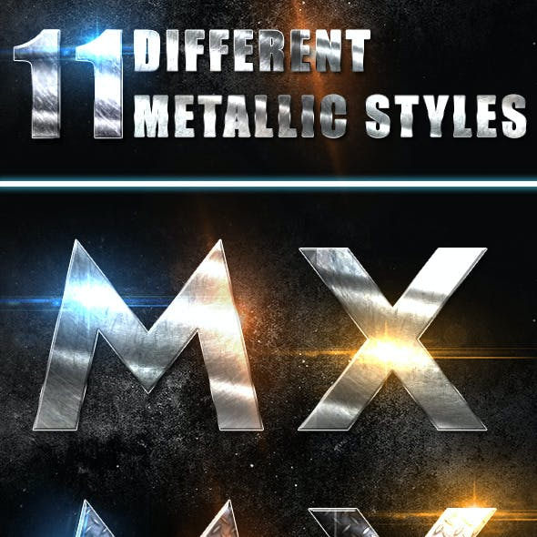 11 Metallic Text Styles