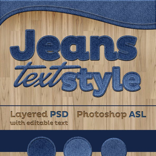 Jeans Text Style Effect