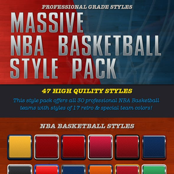 47 NBA Basketball Style Pack