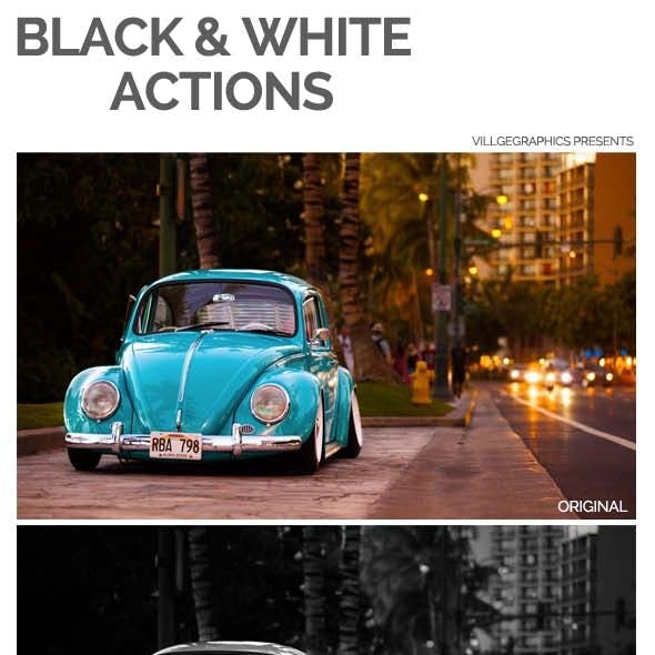 Black & White Photo Actions