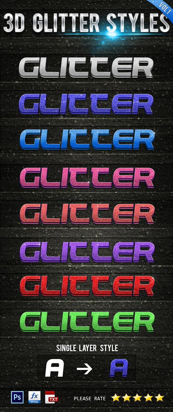3D Glitter Styles Vol 1 - Text Effects Styles