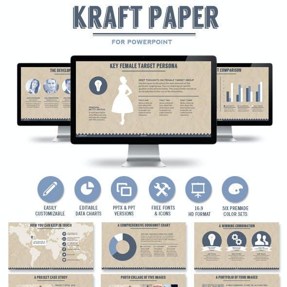 Kraft Paper Powerpoint Presentation Template