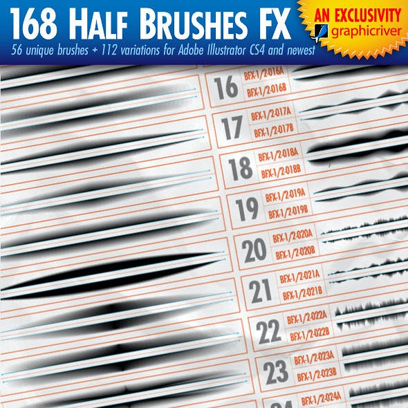 168 Half-Brushes FX - Version1.1
